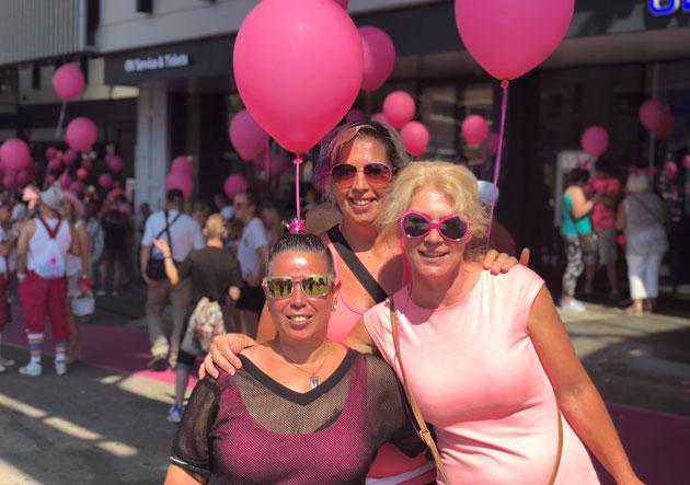Gezichten van Roze Maandag
